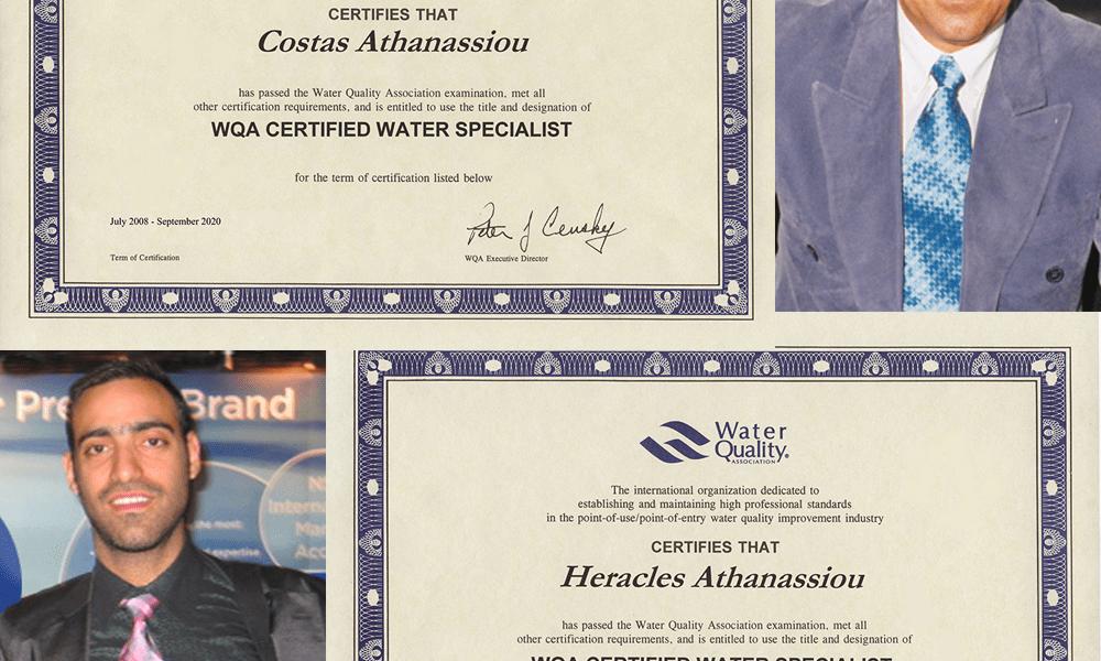 Απόκτηση Πιστοποίησης Ειδικού στην Ποιότητα του Νερού από το WQA